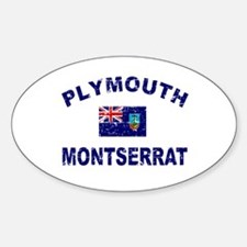 Plymouth Montserrat designs Decal