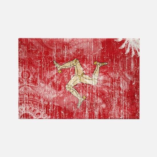 Isle of Man Flag Rectangle Magnet