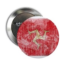 "Isle of Man Flag 2.25"" Button"