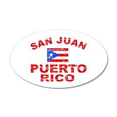 San Juan Puerto Rico designs 22x14 Oval Wall Peel