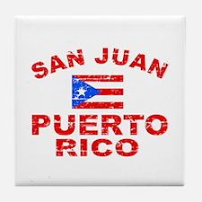 San Juan Puerto Rico designs Tile Coaster