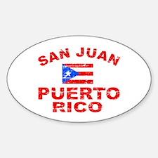 San Juan Puerto Rico designs Sticker (Oval)