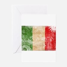 Italy Flag Greeting Cards (Pk of 10)