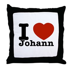 I love Johann Throw Pillow