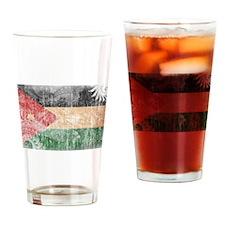 Jordan Flag Drinking Glass