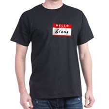 Giana, Name Tag Sticker T-Shirt