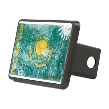 Kazakhstan Flag Rectangular Hitch Cover