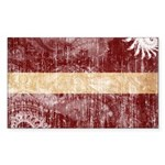 Latvia Flag Sticker (Rectangle 50 pk)