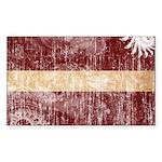 Latvia Flag Sticker (Rectangle 10 pk)