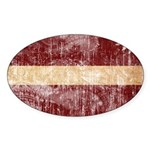 Latvia Flag Sticker (Oval)