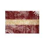 Latvia Flag Rectangle Magnet (100 pack)