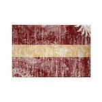 Latvia Flag Rectangle Magnet (10 pack)