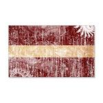 Latvia Flag 22x14 Wall Peel