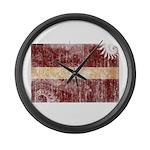Latvia Flag Large Wall Clock
