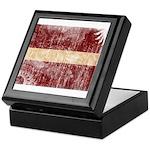 Latvia Flag Keepsake Box