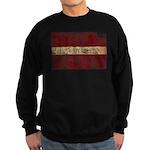 Latvia Flag Sweatshirt (dark)