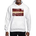 Latvia Flag Hooded Sweatshirt