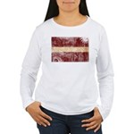 Latvia Flag Women's Long Sleeve T-Shirt