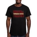 Latvia Flag Men's Fitted T-Shirt (dark)