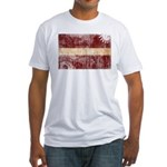 Latvia Flag Fitted T-Shirt