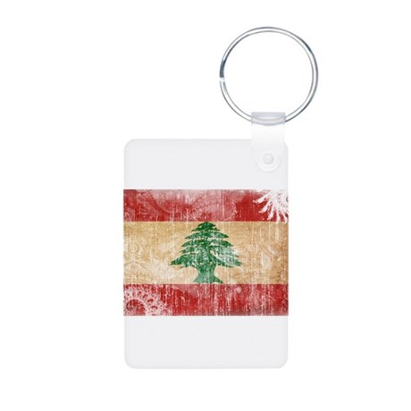 Lebanon Flag Aluminum Photo Keychain
