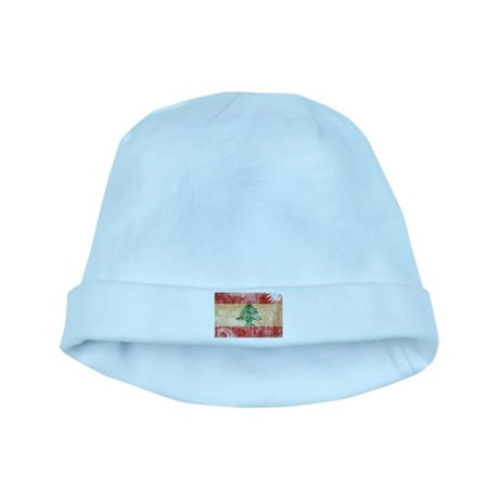 Lebanon Flag baby hat
