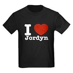 I love Jordyn Kids Dark T-Shirt