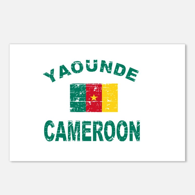 Yaounde Cameroon designs Postcards (Package of 8)