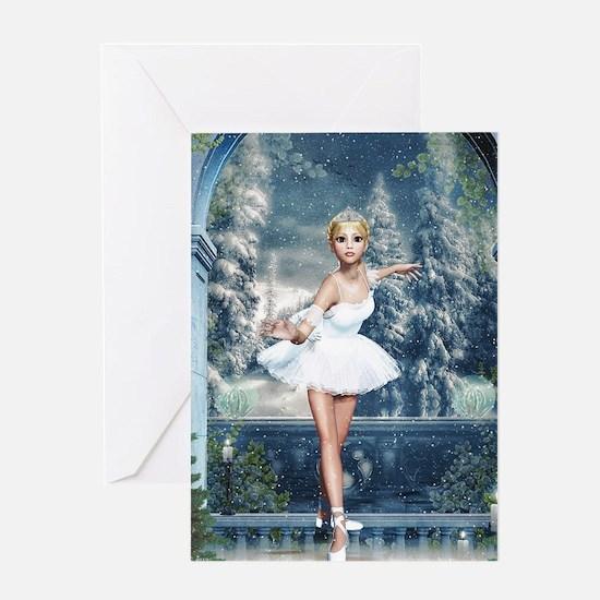 Snow Princess Nutcracker Ballerina Greeting Cards