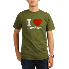 I love Jordon Organic Men's T-Shirt (dark)