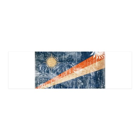 Marshall Islands Flag 42x14 Wall Peel