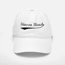 Stinson Beach - Vintage Baseball Baseball Cap