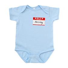 Shirley, Name Tag Sticker Infant Bodysuit