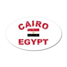 Cairo Egypt designs 22x14 Oval Wall Peel