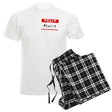 Malik, Name Tag Sticker Pajamas