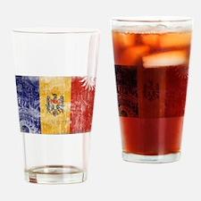Moldova Flag Drinking Glass