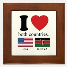 USA-KENYA Framed Tile
