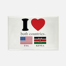 USA-KENYA Rectangle Magnet