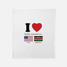 USA-KENYA Throw Blanket