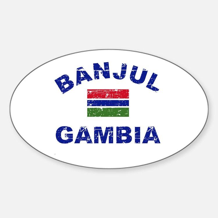 Banjul Gambia designs Sticker (Oval)