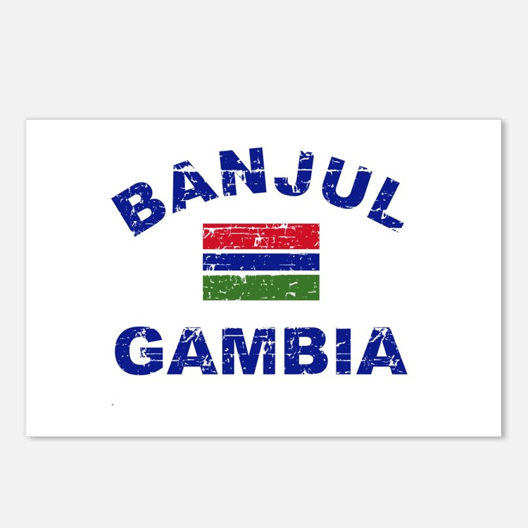 Banjul Gambia designs Postcards (Package of 8)