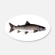 Trout Fish Oval Car Magnet