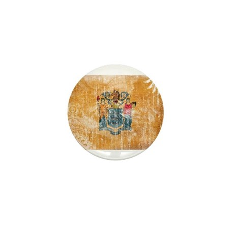 New Jersey Flag Mini Button
