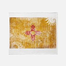 New Mexico Flag Throw Blanket