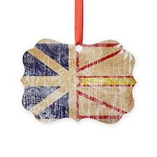 Newfoundland Flag Picture Ornament