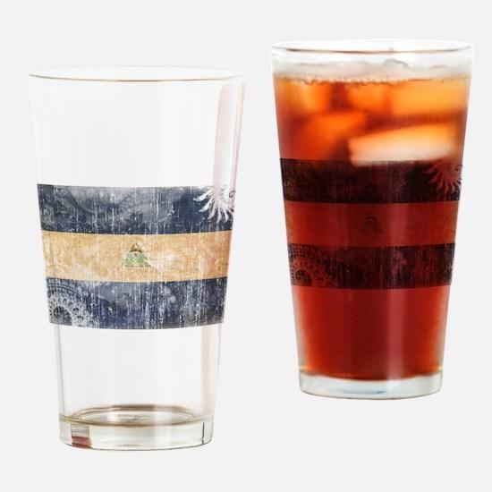 Nicaragua Flag Drinking Glass