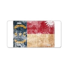 North Carolina Flag Aluminum License Plate