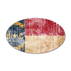 North Carolina Flag 22x14 Oval Wall Peel