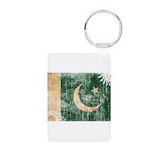 Pakistan Flag Aluminum Photo Keychain