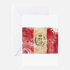 Peru Flag Greeting Card